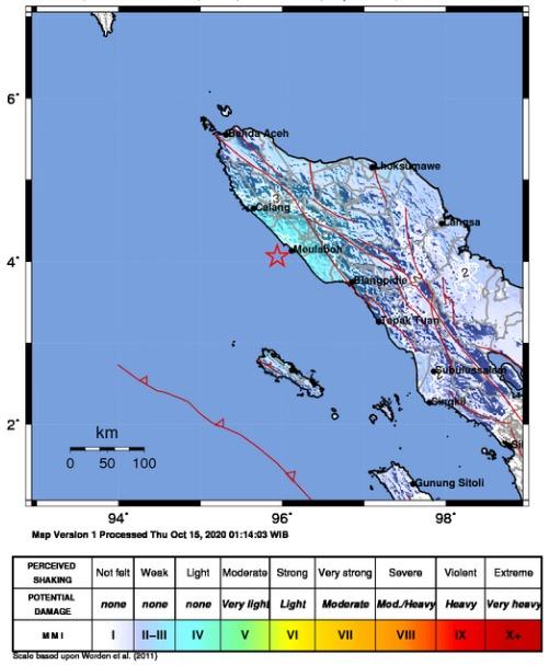 Gempa M5 2 Guncang Kabupaten Nagan Raya Aceh Barat Putraindo News
